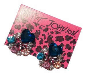 Betsey Johnson New Betsey Johnson Crystal Heart Stud Earrings J732