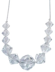 Vieste Vieste Austrian Crystal Necklace 11 clear crystals adjustable 18