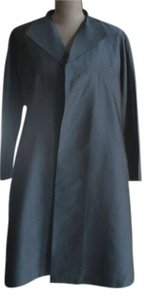 Eileen Fisher Lined Silk Knee Length Silk Lined Silk Jacquard Coat