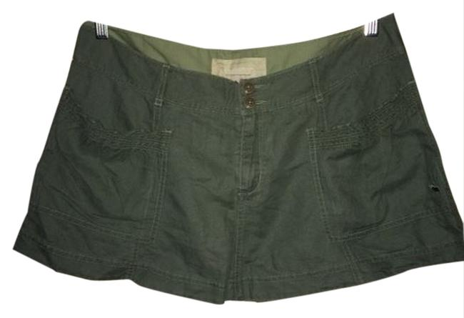 Abercrombie & Fitch A&f A F Vintage Olive Olive Color Ruffles Soft Summer Cute Love Adorable Mini Mini Skirt