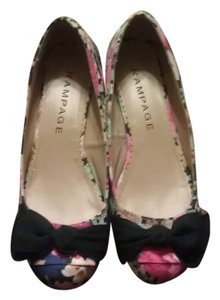 Rampage Floral Summer Nina Ricci Multicolor Wedges