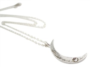 Jewelry OD Crescent Moon Necklace, Silver Plated Crescent Moon Necklace, 18 inches