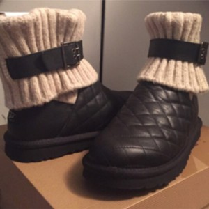 UGG Australia Quilted Black Boots