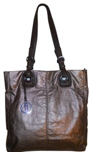 Hilary Radley Tote in antique gold & brown