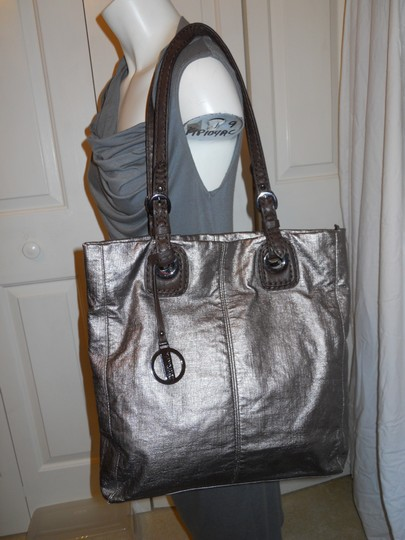 Hilary Radley Tote in antique gold & brown Image 1
