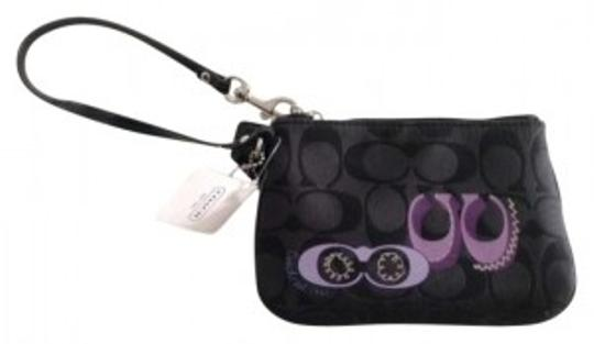Coach black/purple Clutch