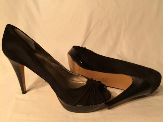 Moda International Peep Toe Black Pumps