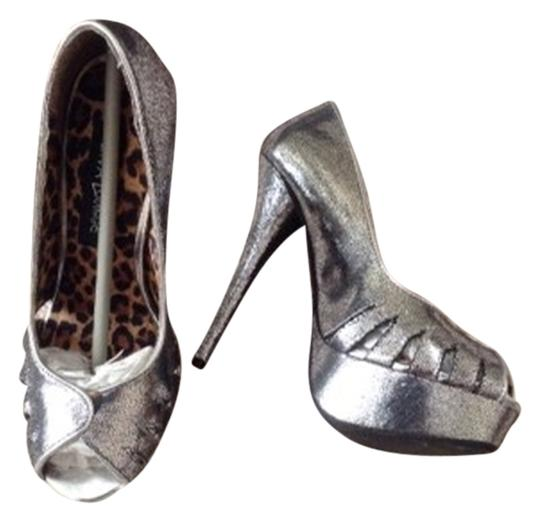 Diva Lounge Silver Heels Pumps