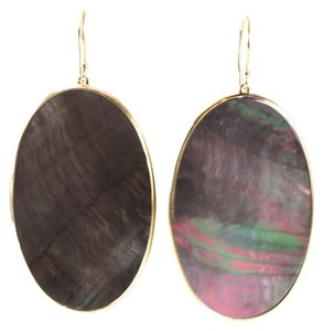 Ippolita IPPOLITA 18K Yellow Gold Polished Rock Candy Black Shell Large Oval Earrings