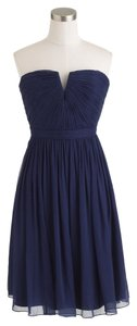 J.Crew Flowy Silk Chiffon Wedding Bridesmaid Bride Bridal Strapless Dress
