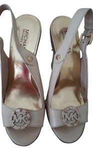 Michael Kors cream Wedges