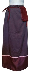 Cop. Copine One Size French Maxi Skirt Plum