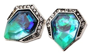 Other Iridescent Pave Stone Stud Earrings