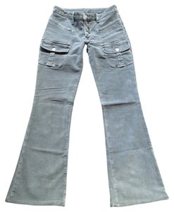 Hudson Jeans Corduroy Gray Flare Boot Cut Pants Grey