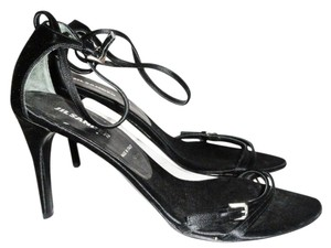 Jil Sander Italy Satin High Heels Date Night Formal Black Sandals