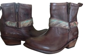 Bed|Stü Leather Short Double Zip Teak Rustic Boots