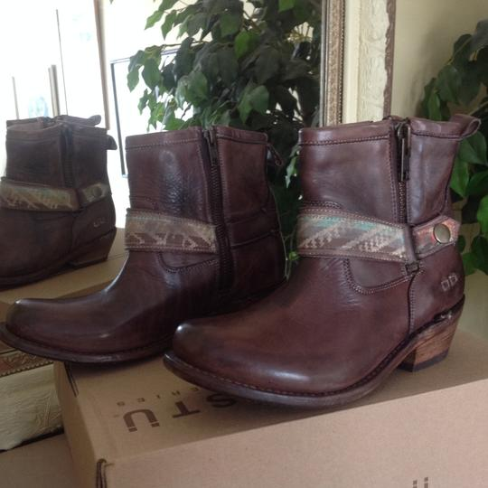 Bed|Stü Leather Double Zip Teak Rustic Boots