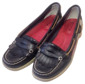 Sperry Navy blue and red Flats