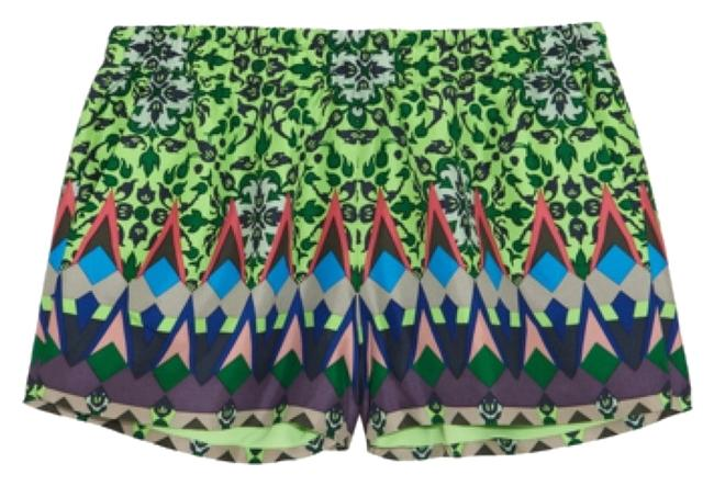 Item - Green Purple Collection Gemstone Floral Shorts Size 6 (S, 28)