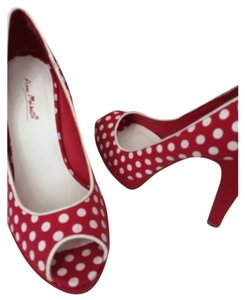 Anne Michelle Red and white Platforms