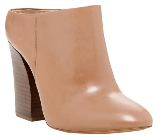 Pour La Victoire Leather Bootie Almond Toe Petal Mules