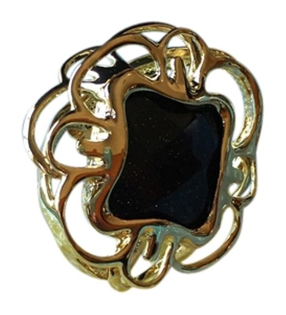 Item - Gold with Blue Stone Statement Ring