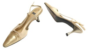 Stuart Weitzman Slingbacks Taupe Patent leather Pumps