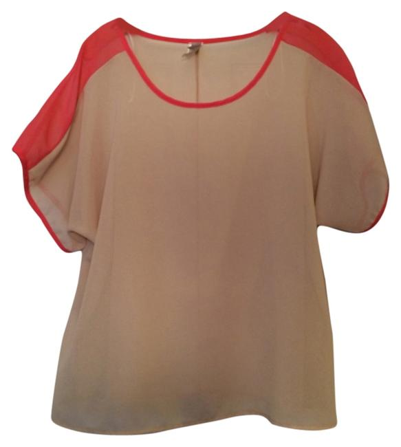 Preload https://item4.tradesy.com/images/cream-coral-blouse-size-6-s-12898663-0-1.jpg?width=400&height=650