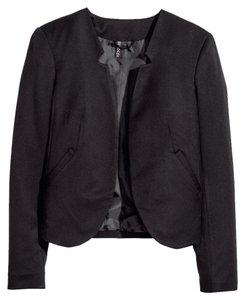 H&M Notch Jacket Black Blazer