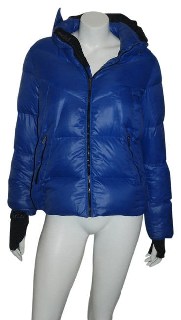 Item - Blue XS Add 33 Down Puffer Jacket Hooded 16y Or Womens Coat Size 0 (XS)