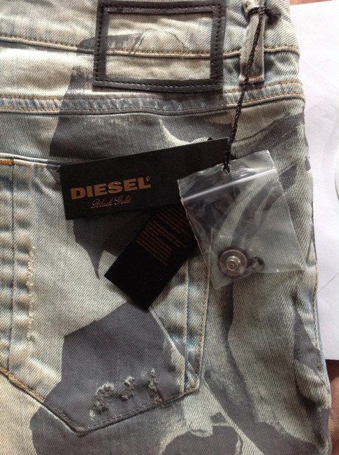 Diesel Gold Distressed Skinny Jeans-Light Wash