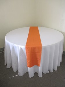 14 Orange Polyester Table Runners