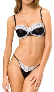 Smart & Sexy New With Tag Smart & Sexy Women's Balconette & Panty Set, Black/White, sz 38C/8