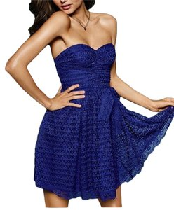 Moda International Cobalt Lace Sweetheart Dress