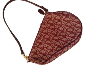 Dior Mini Saddle Pochette Monogram Christian Satchel in Burgundy