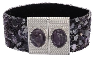 AMETHYST, AUSTRIAN CRYSTAL BRACELET WITH MAGNETIC CLOSURE