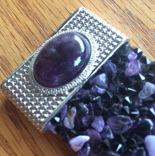 Other AMETHYST, AUSTRIAN CRYSTAL BRACELET WITH MAGNETIC CLOSURE