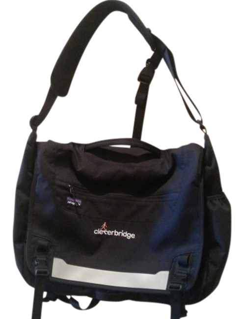 Item - Messenger Half Mass Black 600 - Denier Recycled Polyester with A Polyurethane Coating Laptop Bag