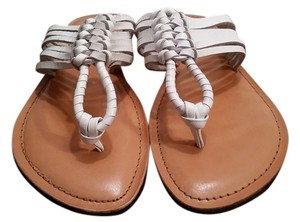 BC Footwear Leather white Sandals