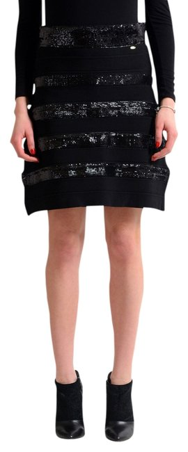Preload https://img-static.tradesy.com/item/12899920/just-cavalli-black-women-s-knitted-sequin-embellished-a-line-knee-length-skirt-size-4-s-27-0-1-650-650.jpg