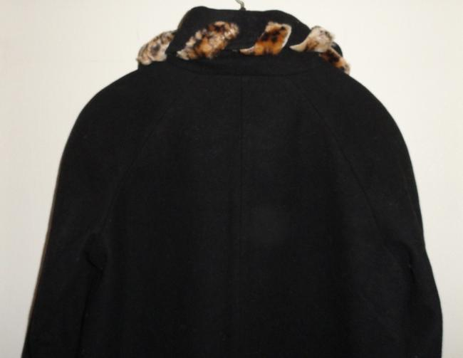 Komitor Winter Faux Fur Wool Dressy Classic Trench Coat