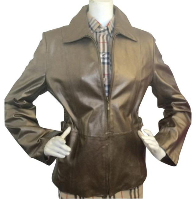 Preload https://item3.tradesy.com/images/gallery-bronze-motorcycle-leather-jacket-size-12-l-12900007-0-1.jpg?width=400&height=650