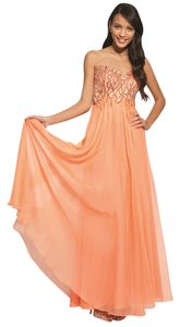 jovani Prom Strapless Flowy Dress
