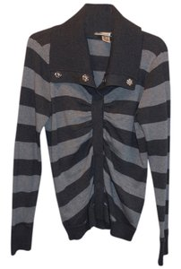 DKNY Striped Cardigan Sweater