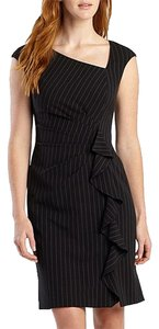 American Living Ruffle Pinstripe Sheath Dress