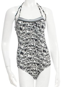 Missoni Black, white monogram print Missoni one piece swimsuit New 38 2 S Small SX