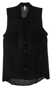 Ambiance Apparel Sleeveless Sheer Top Black
