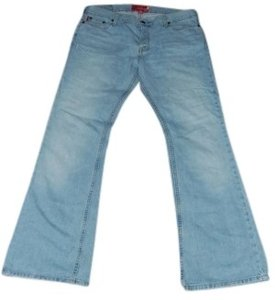 Hollister 100% Cotton Regular Length Size 11 Boot Cut Jeans-Light Wash