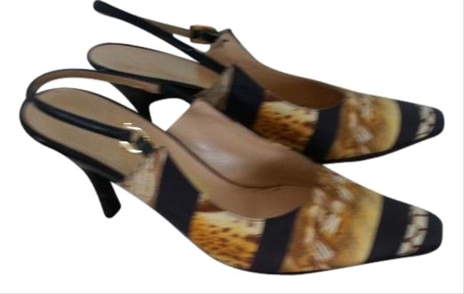 Item - Exotic Print Elegant Pumps Made To Match The Bag Stunning Look Formal Shoes Size US 7.5 Regular (M, B)