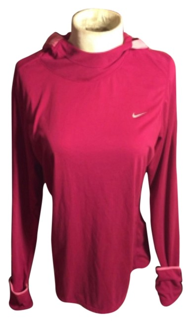 Nike NWOT-XL NIKE DRI FIT PINK HOODED RUNNING SWEATSHIRT